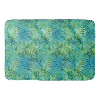 Tapete De Banheiro O Aqua Havaí tropical verde sae da aguarela