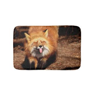 Tapete De Banheiro O Fox que cola o é língua para fora