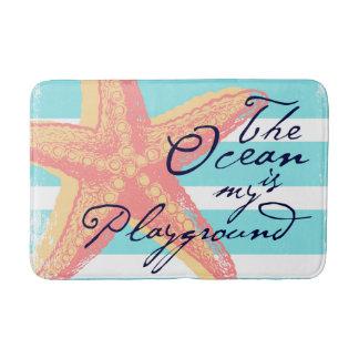 Tapete De Banheiro O oceano é meu campo de jogos
