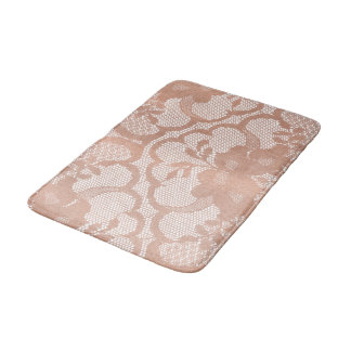 Tapete De Banheiro O ouro cor-de-rosa cora encanto luxuoso branco