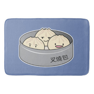 Tapete De Banheiro O pequeno almoço chinês do dim sum do bolo da