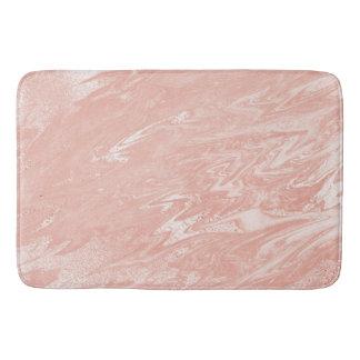 Tapete De Banheiro O rosa do rosa cora metálico de pedra de mármore