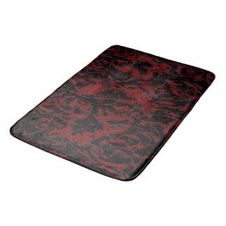 Tapete De Banheiro Ornamento abstrato vermelho escuro