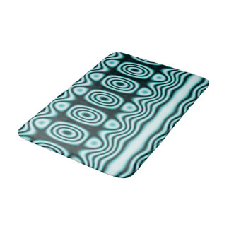 Tapete De Banheiro Ornamento das ondas e dos símbolos do azul
