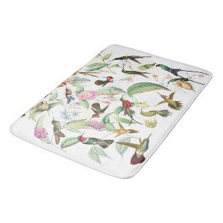 Tapete De Banheiro Os animais selvagens dos pássaros do colibri