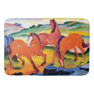Tapete De Banheiro Os cavalos vermelhos por Franz Marc