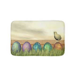 Tapete De Banheiro Ovos coloridos para a páscoa - 3D rendem