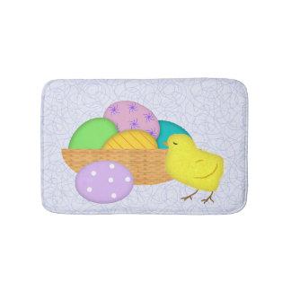 Tapete De Banheiro Ovos da páscoa e esteira de banho do pintinho