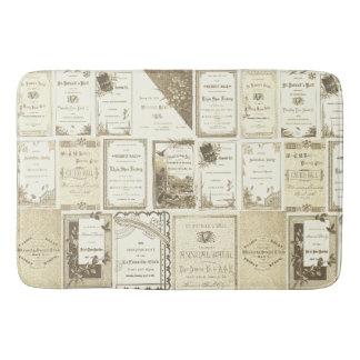 Tapete De Banheiro Papel do Sepia dos convites do clube dos 1880's de
