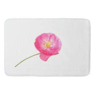 Tapete De Banheiro papoila cor-de-rosa na haste