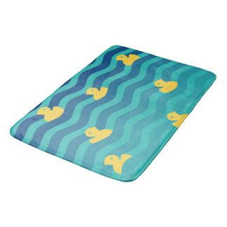 Tapete De Banheiro Patos amarelos de flutuação pequenos