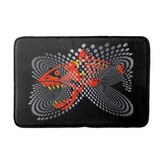 Tapete De Banheiro Peixes irritados pretos do design moderno do