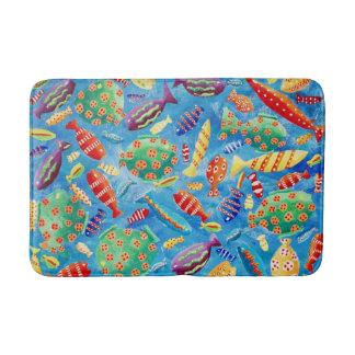 Tapete De Banheiro Peixes tropicais