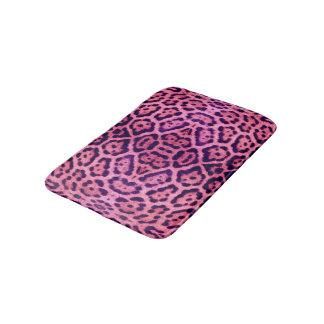 Tapete De Banheiro Pele cor-de-rosa e roxa de Jaguar