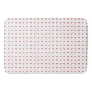 Tapete De Banheiro Pequeno grande do teste padrão cor-de-rosa dos