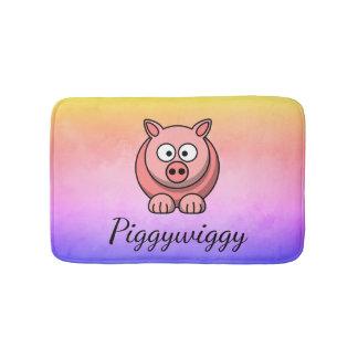 Tapete De Banheiro PiggyWiggy pouco leitão bonito Pastel de Pigling