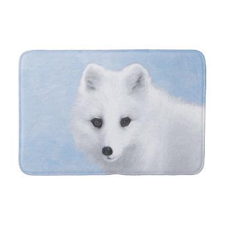 Tapete De Banheiro Pintura do Fox ártico - arte original dos animais