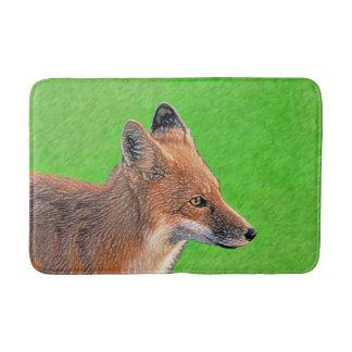 Tapete De Banheiro Pintura do Fox vermelho - arte original dos