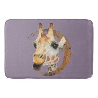 Tapete De Banheiro Pintura do girafa com quadro do círculo do ouro do