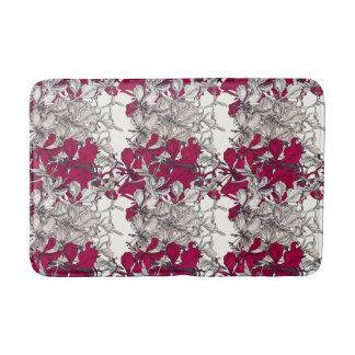 Tapete De Banheiro Pintura floral do vintage elegante da arte de