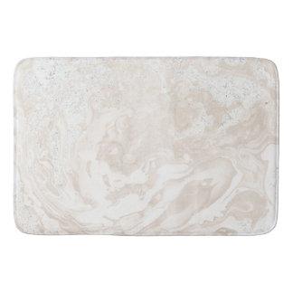 Tapete De Banheiro Pó bege branco luxuoso de pedra de mármore do