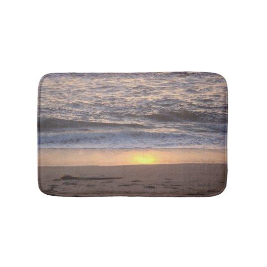 Tapete De Banheiro Por do sol da praia