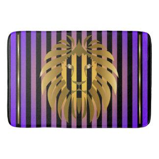 Tapete De Banheiro Por do sol e listras do leão do ouro