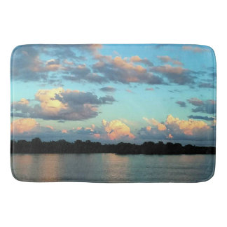 Tapete De Banheiro Por do sol sobre o rio Mississípi