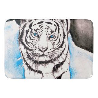 Tapete De Banheiro Porca branca do tigre Siberian