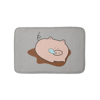 Tapete De Banheiro Porco