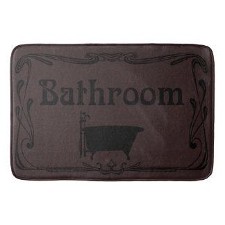 Tapete De Banheiro Preto do marrom da cuba do vintage do banheiro do