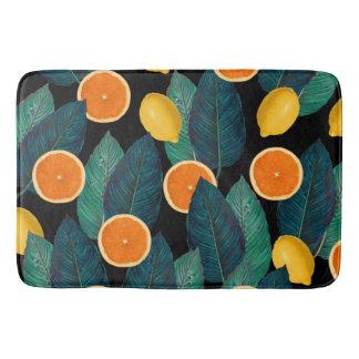 Tapete De Banheiro preto dos limões e das laranjas