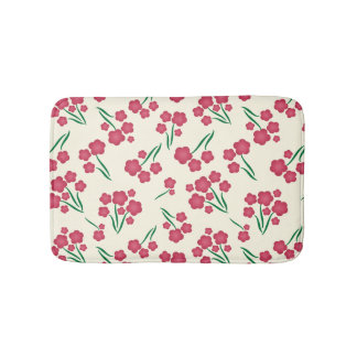 Tapete De Banheiro Primavera magenta das flores do rosa da flor da