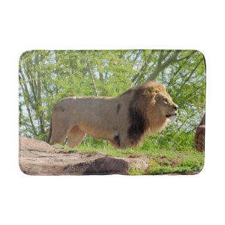 Tapete De Banheiro Rei da esteira de banho da selva (leão)