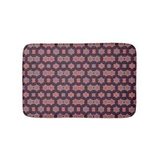 Tapete De Banheiro Rosa azul das flores roxas escuras do teste padrão