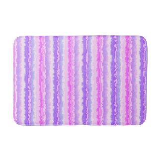 Tapete De Banheiro Rosa e listras Spattered roxo do Fractal