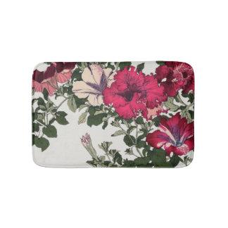 Tapete De Banheiro Rosa Ruffled da videira do petúnia floral