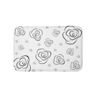 Tapete De Banheiro Rosas