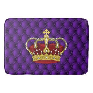Tapete De Banheiro Roxo Pintucks da coroa & do falso da rainha real