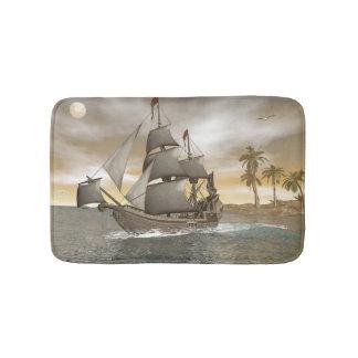 Tapete De Banheiro Sair do navio de pirata - 3D render.j