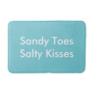Tapete De Banheiro Sandy Toes o banho salgado Matt dos beijos
