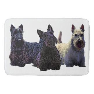 Tapete De Banheiro Scottish trio preto/wheaten de Terrier, cão preto