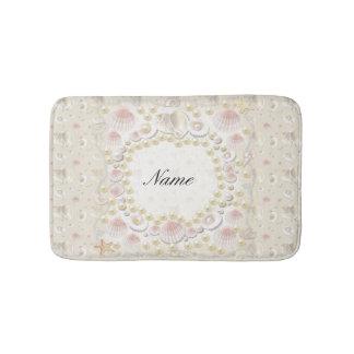 Tapete De Banheiro Seashells e pérolas personalizados