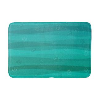 Tapete De Banheiro Seashells na esteira de banho das ondas