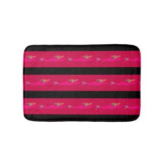 Tapete De Banheiro sereias cor-de-rosa nadadoras algum fundo