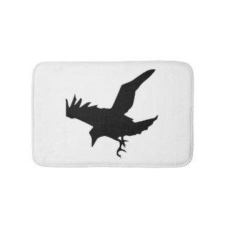 Tapete De Banheiro Silhueta do corvo