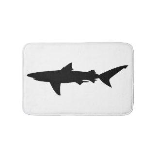 Tapete De Banheiro Silhueta do tubarão