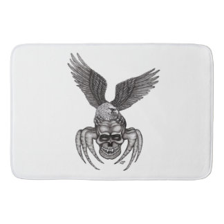 Tapete De Banheiro Spiderskull com Eagle