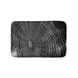 Tapete De Banheiro Spiderweb no fundo preto