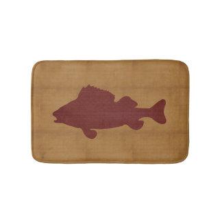 Tapete De Banheiro Tan rústico com obscuridade - peixe vermelho
